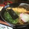 竹の子ごあんと天ぷらそばw