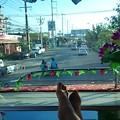 Photos: 初めて2階建てバスの一番前の席が取れました、キモチイイー!