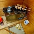 Photos: 秋の燗銅壺で焼き鳥