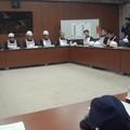 写真: 2015年度三鷹市議会災害対策支援本部防災訓練 全体連絡会議:M7.3 振動5強...