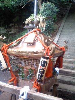 写真: お神輿(7月20日、市場町内会)