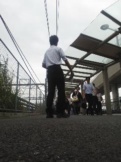 9月10日(水)大船駅前にて(角田晶生)