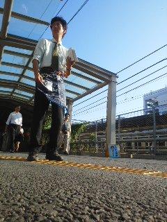 写真: 9月29日(月)朝駆け(大船駅、角田晶生)