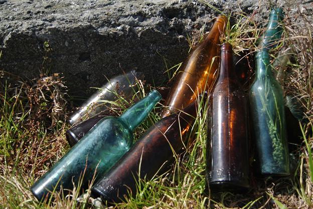 70年前のビール瓶
