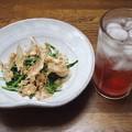 Photos: IMGP3136光市産空芯菜炒めとイチゴのチューハイ