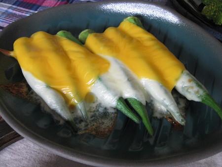 カツ代レシピ「チーズオンオクラ」