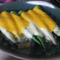 写真: カツ代レシピ「チーズオンオクラ」