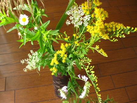十五夜の野の花摘み