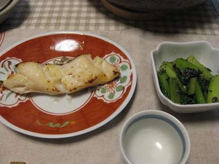 鱈の味噌漬けと小松菜のごまよごし