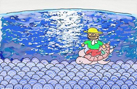 海のきらめき