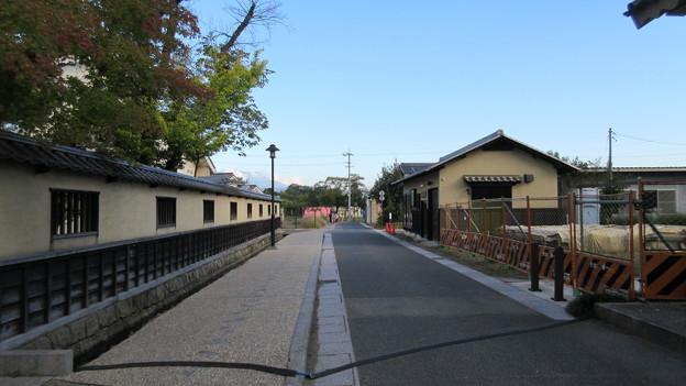 松代城(海津城。長野市松代町)三の堀跡