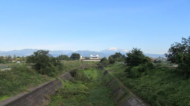 松代城(海津城。長野市松代町)神田川、北向き