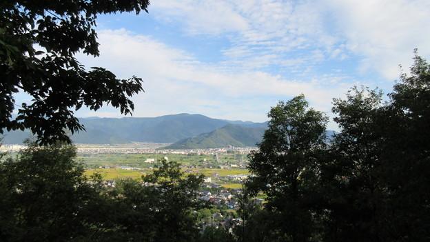 長谷寺(長野市)三十三観音石仏 最上部より