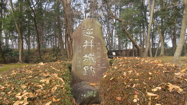 逆井城 城址碑(茨城県坂東市営 逆井城跡公園)