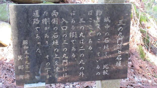 箕輪城(高崎市)三の丸門跡