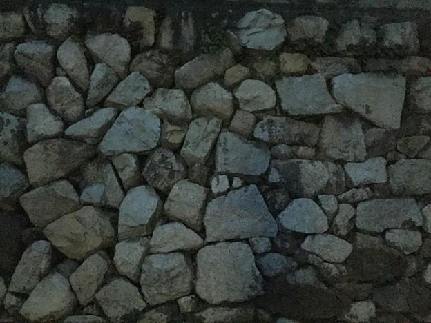 大津城(大津市)外堀石垣