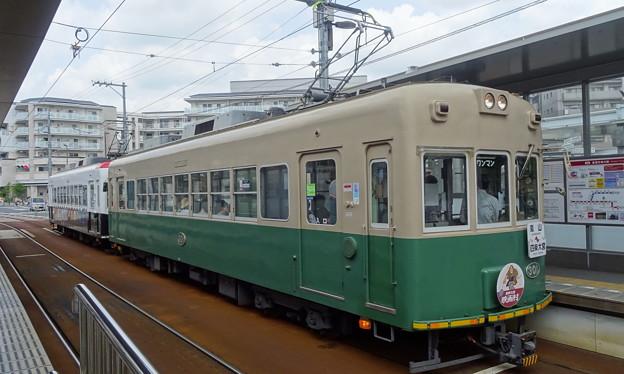 嵐電(京福電鉄嵐山線)モボ301型+モボ101型