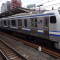 写真: JR東日本横浜支社E217系(早春の津田沼駅にて)