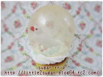 スノードームのカップケーキ1-1