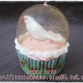 写真: 文鳥のスノードーム・カップケーキ2-2