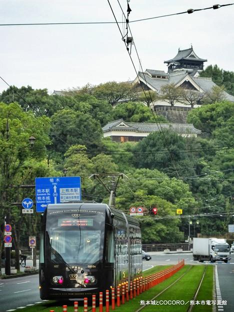 熊本城とCOCORO。