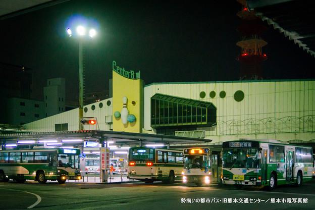 勢揃いの都市バス。