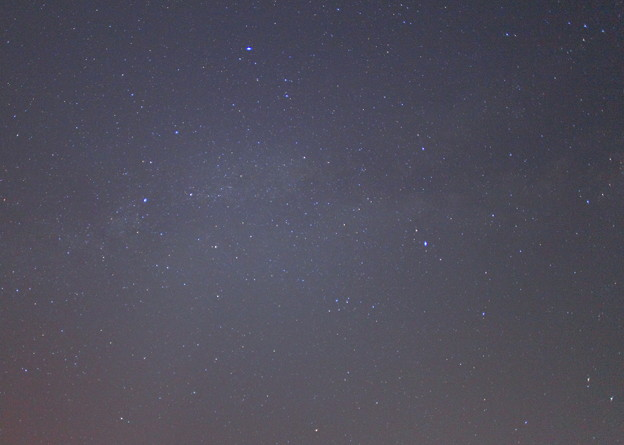 昨晩の星空  夏の大三角形?