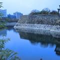 大阪城の石垣とお堀