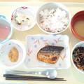 写真: 2月18日昼食(鯖の塩焼き) #病院食