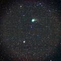 写真: カタリナ彗星と回転花火銀河