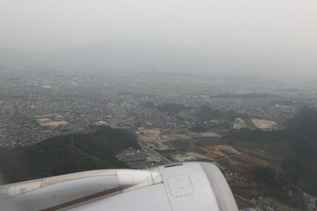 福岡空港離陸直後