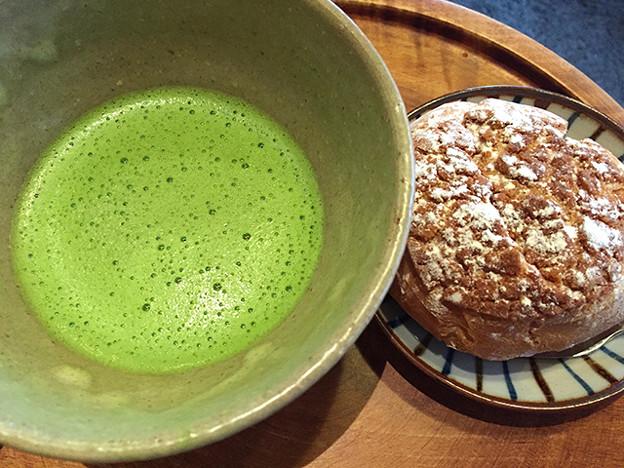 抹茶とシューkリーム