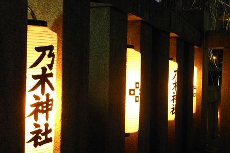 乃木神社 灯