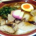 Photos: 【今日の昼飯?夜飯?】岡山市北区中仙道の、中華蕎麦 かたやま 中華蕎麦。 今日のは醤油ダレが薄めだったが美味しかった。