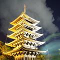 Photos: 奈良燈花会2014(興福寺五重塔)