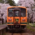 Photos: 芦野公園駅に到着 走れメロス号・・20140501