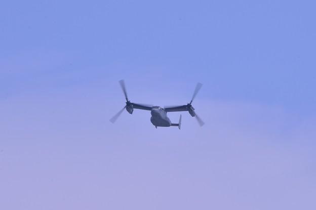 やっぱり来たぜ沖縄普天間からMV22 VMM256ドラゴン オスプレイ オーバーヘッドへ・・20140504