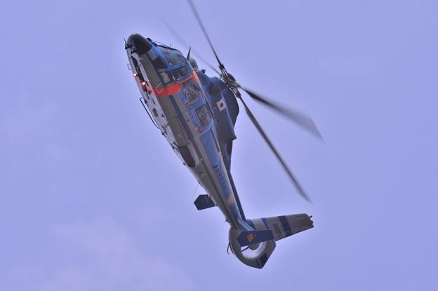 静岡県機ヘリ ふじ2号・・ユーロコプタードーファン なかなかの機動性を見せつける