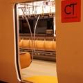 撮って出し。。北九州の門司港駅。。817系の木造製のシート。。11月21日