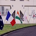 今年の観艦式参加の国々。。横須賀基地10月17日
