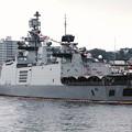 観艦式前日一般公開。。横須賀基地逸見岸壁 インド海軍サヒャドリ。。吉倉桟橋から10月17日