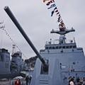 一般公開されていた韓国海軍駆逐艦テジョヨンの機関砲。。10月17日