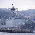 Photos: 軍港めぐりの遊覧船から見る韓国海軍テジョヨン。。吉倉桟橋10月17日