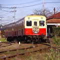 Photos: 上総鶴舞駅に到着した小湊鉄道キハ200(^^)。。撮って出し 12月20日