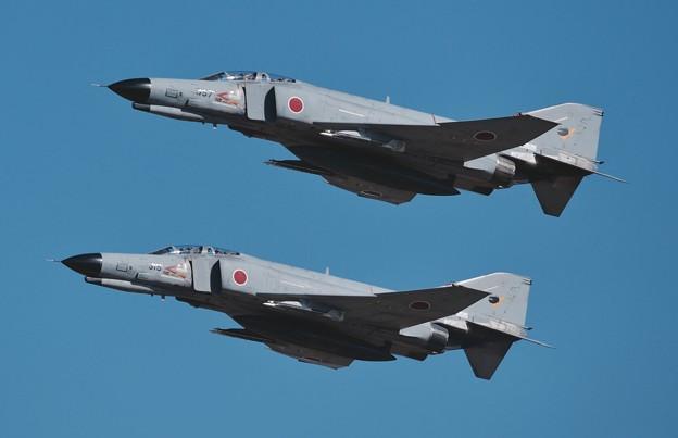 写真: 新田原基地航空祭予行。。第301飛行隊F-4ファントム フォーメーションテイクオフ。。20151205