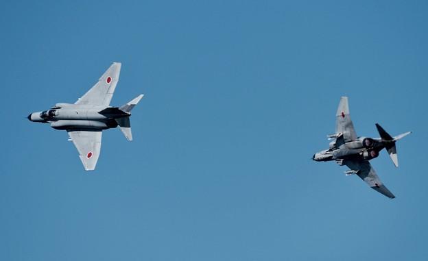 写真: 新田原基地航空祭予行。。第301飛行隊F-4ファントム タッグディパーチャー。。20151205