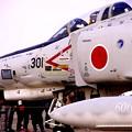 写真: 小牧基地オープンベース。。岐阜の航空自衛隊60周年白ファントム地上展示4・・ 20150315