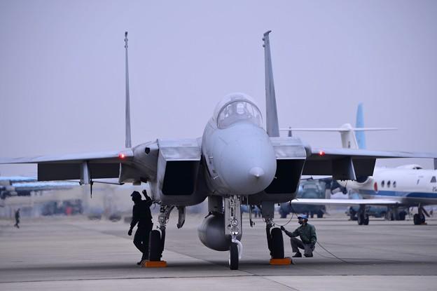 小牧基地オープンベース。。F-15 岐阜基地へ帰投へ 20150315