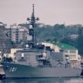 ある日の横須賀基地へ。。逸見岸壁に護衛艦むらさめ。。20160131