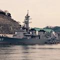 ある日の横須賀基地へ。。逸見岸壁に護衛艦いかづち。。20160131
